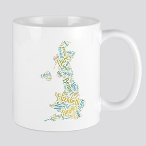 Pride and Prejudice Map Mug